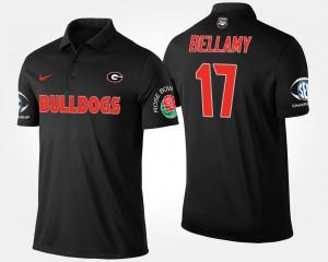 Southeastern Conference Rose Bowl #17 Black Bowl Game Davin Bellamy UGA Polo Mens 591844-598