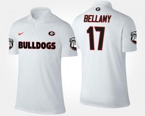 Davin Bellamy UGA Polo White For Men's #17 978463-506