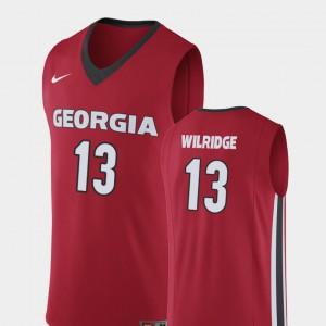 E'Torrion Wilridge UGA Jersey College Basketball Red #13 Men's Replica 861692-123