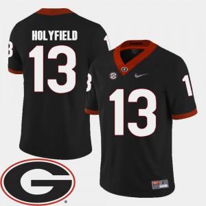 College Football 2018 SEC Patch Black Mens Elijah Holyfield UGA Jersey #13 663471-257