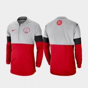 Gray Red UGA Jacket Rivalry Men's Football Half-Zip 541358-287