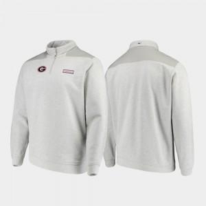 Quarter-Zip Gray Shep Shirt UGA Jacket For Men 320320-214