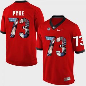 Red Mens Greg Pyke UGA Jersey Pictorial Fashion #73 226387-979