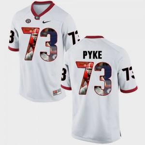 #73 Greg Pyke UGA Jersey For Men's Pictorial Fashion White 456588-736