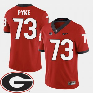 #73 Men's Greg Pyke UGA Jersey College Football Red 2018 SEC Patch 998788-454