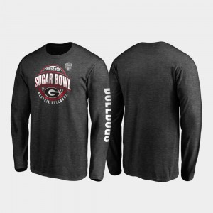 UGA T-Shirt 2020 Sugar Bowl Bound Neutral Stiff Arm Long Sleeve For Men Heather Charcoal 470539-773