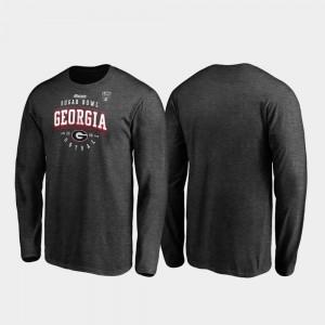 Heather Gray Men 2020 Sugar Bowl Bound UGA T-Shirt Tackle Long Sleeve 138887-688