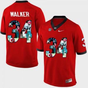 For Men Pictorial Fashion #34 Red Herschel Walker UGA Jersey 849967-595