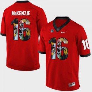 Pictorial Fashion Isaiah McKenzie UGA Jersey Men Red #16 706520-886