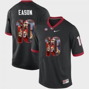 #10 Jacob Eason UGA Jersey Pictorial Fashion Black Men 280633-650