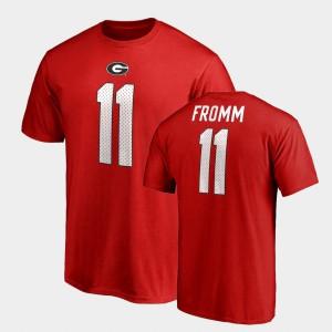For Men College Legends Name & Number Jake Fromm UGA T-Shirt Red #11 852484-653