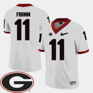 #11 College Football Jake Fromm UGA Jersey 2018 SEC Patch For Men White 399325-734