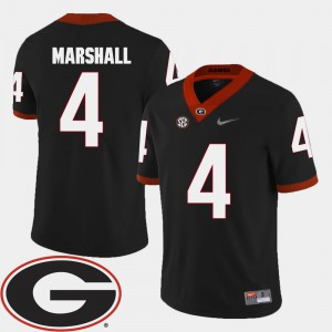 Black 2018 SEC Patch Keith Marshall UGA Jersey #4 College Football Men 776617-914