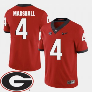 Red College Football For Men Keith Marshall UGA Jersey 2018 SEC Patch #4 880216-916