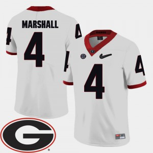 Keith Marshall UGA Jersey 2018 SEC Patch College Football White For Men #4 841073-249