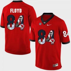 Leonard Floyd UGA Jersey #84 Red Pictorial Fashion Men 823823-288