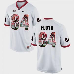 White Leonard Floyd UGA Jersey Pictorial Fashion Men #84 834109-754
