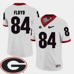 #84 Leonard Floyd UGA Jersey Mens White 2018 SEC Patch College Football 579285-293