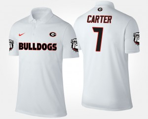 Lorenzo Carter UGA Polo White For Men's #7 352178-475