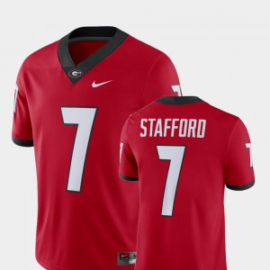 Alumni Football Game Men Red Player Matthew Stafford UGA Jersey #7 157959-416