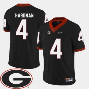 #4 College Football 2018 SEC Patch Black Men's Mecole Hardman UGA Jersey 967316-922