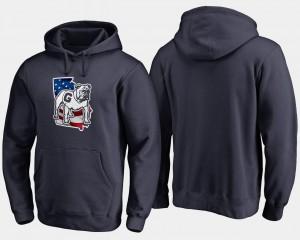 Big & Tall Navy Banner State Mens UGA Hoodie 228710-626