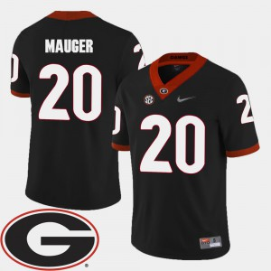 #20 Quincy Mauger UGA Jersey For Men's College Football Black 2018 SEC Patch 473157-341