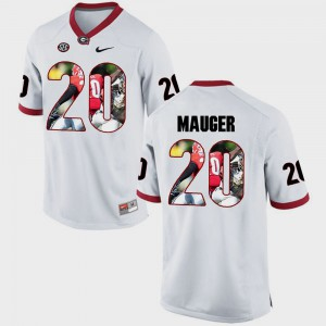 Pictorial Fashion For Men #20 Quincy Mauger UGA Jersey White 853750-608