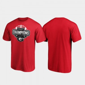 For Men 2019 SEC East Football Division Champions Red UGA T-Shirt 678127-748