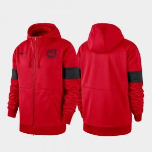 2019 Sideline Therma-FIT Red Performance Full-Zip For Men UGA Hoodie 402173-224