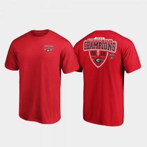 Red 2020 Sugar Bowl Champions UGA T-Shirt Hometown Lateral For Men's 574234-648