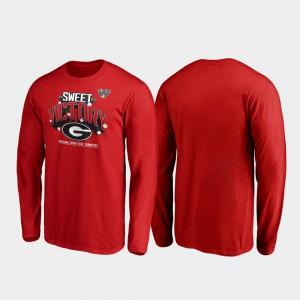 Red 2020 Sugar Bowl Champions For Men Receiver Long Sleeve UGA T-Shirt 350648-905