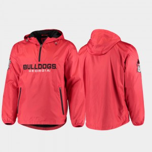Base Runner UGA Jacket Red Half-Zip For Men 671588-753