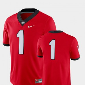 Men's 2018 Game UGA Jersey Red #1 College Football 997690-847