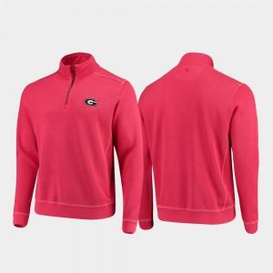 UGA Jacket Red College Sport Nassau Half-Zip Pullover Tommy Bahama Men's 327277-247