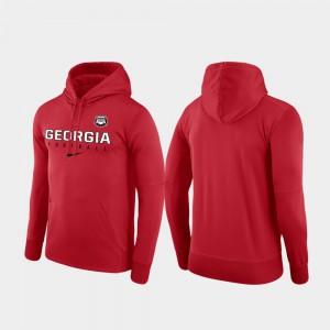 Red Performance Football Practice UGA Hoodie For Men 149702-346