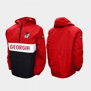UGA Jacket Red Men's Alpha Anorak Pullover Half-Zip 146150-633