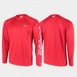 PFG Terminal Tackle Long Sleeve Omni-Shade Red For Men's UGA T-Shirt 259977-558