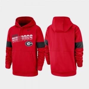 Men's UGA Hoodie Red Pullover Performance 467661-788