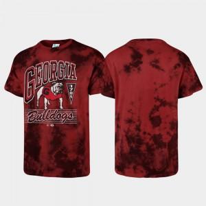 Red UGA T-Shirt For Men's Tubular Tie Dye 542744-657