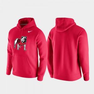UGA Hoodie Vintage Logo Club Fleece Mens Red 353716-635