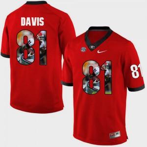 Pictorial Fashion #81 Red Mens Reggie Davis UGA Jersey 925203-255