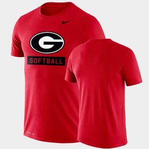 Red Men UGA T-Shirt Performance Softball Drop Legend 668200-208