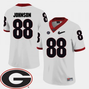White College Football 2018 SEC Patch Toby Johnson UGA Jersey #88 Mens 292178-155