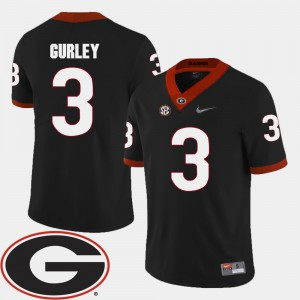 Black Todd Gurley UGA Jersey #3 For Men's College Football 2018 SEC Patch 129889-307