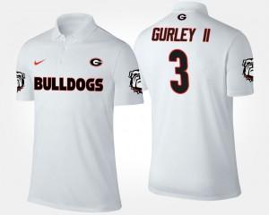 #3 Todd Gurley II UGA Polo White Men's 437360-290
