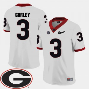 Todd Gurley UGA Jersey White College Football Men's #3 2018 SEC Patch 919931-985