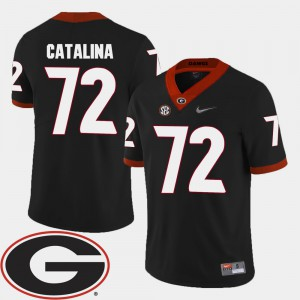 For Men #72 College Football Black Tyler Catalina UGA Jersey 2018 SEC Patch 893311-813