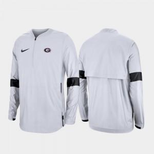2019 Coaches Sideline Quarter-Zip UGA Jacket Mens White 280516-575