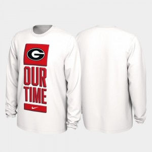 For Men White 2020 March Madness UGA T-Shirt Our Time Bench Legend 504779-954